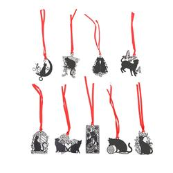 DIY милый черный Кот из металла Закладка для книги Бумага Творческие детали прекрасный корейский Канцтовары подарок
