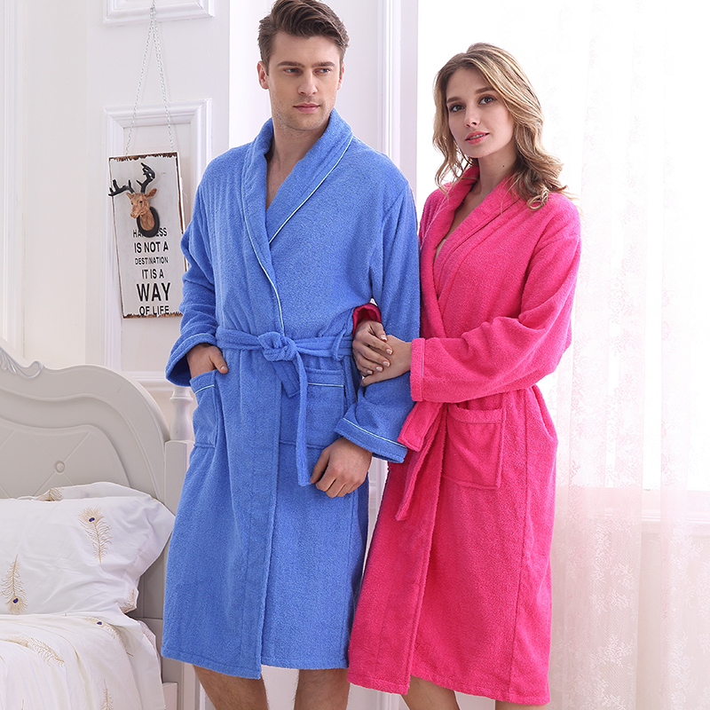 Adult Soft Coral Fleece Warm Bathrobe Printed Snow Brown Plus Size Couple Dressing Gown Sleepwear Robe for Men Women B-5926
