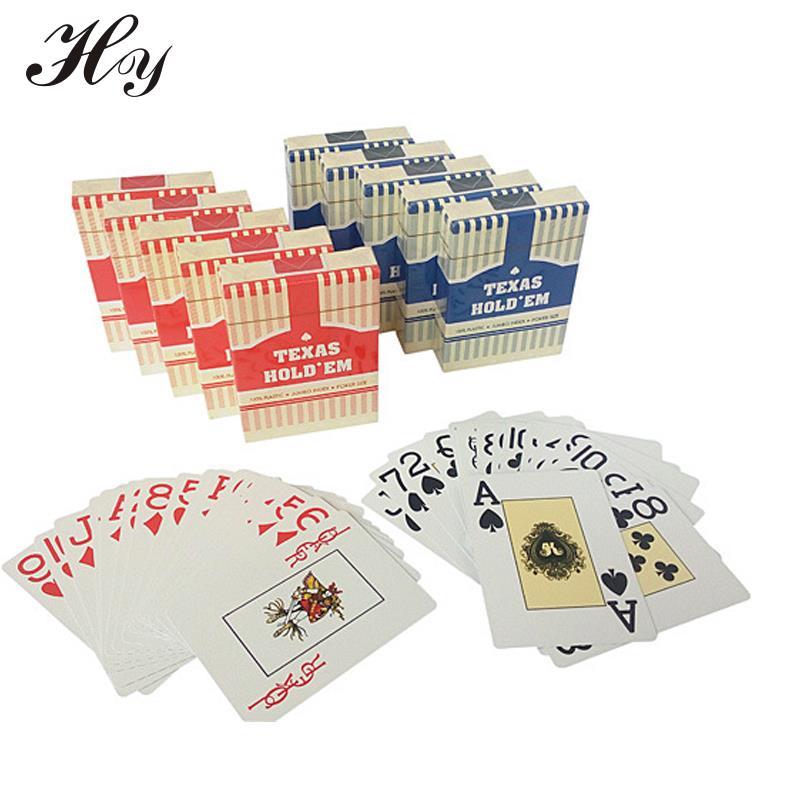 Cartes en plastique PVC Étanche Jouant le Jeu De Cartes Texas Holdem Poker Cartes Jeu Poker Adulte Pont de Carte Normale Carte Poker