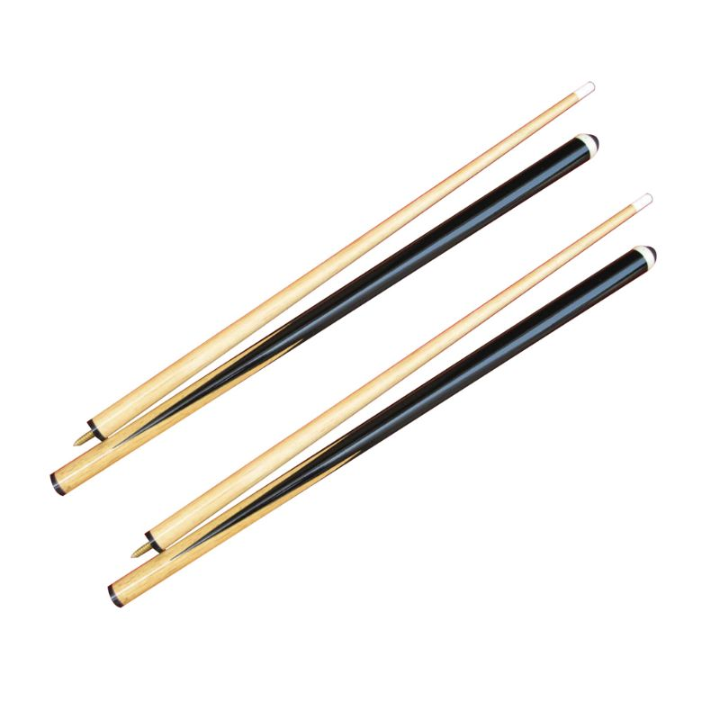 2 Pcs 145cm/57inch American Snooker Wood Pool Cue Assemble Children Adult Home Billiards Exercising Entertaining Tools Supply