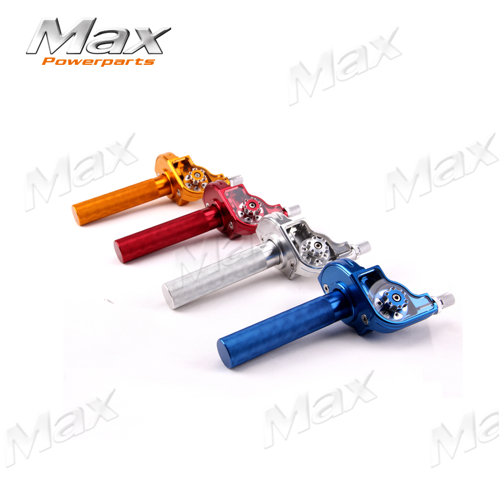 Aluminum Adjustable CNC Twister Throttle Clamp Assy XR50 CRF50 XMOTO TAOTAO APOLO BOSUER KAYO Chinese Pit Dirt Bike