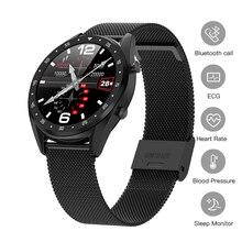 """חכם שעון אק""""ג + PPG גשש כושר קצב לב לחץ דם שיחת Bluetooth Smartwatch פעילות Tracker גברים ספורט שעון"""