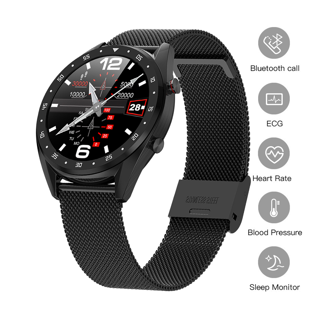 Relógio inteligente Pressão Arterial ECG + PPG Rastreador De Fitness Heart Rate Bluetooth Chamada Atividade Rastreador Smartwatch Relógio Dos Homens Do Esporte