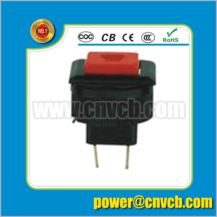 NS168 12VDC~250VAC Red small ON-OFF 1A square electrical push button switc ...