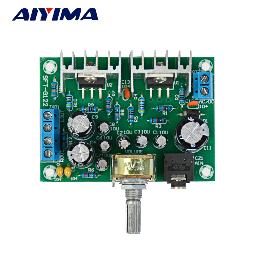 AIYIMA Amplifiers Audio Board AC DC 12V TDA2030 Power Amplifier 2.0 15Wx2 Pure TDA20 Amplificador Board DIY For Home Theater