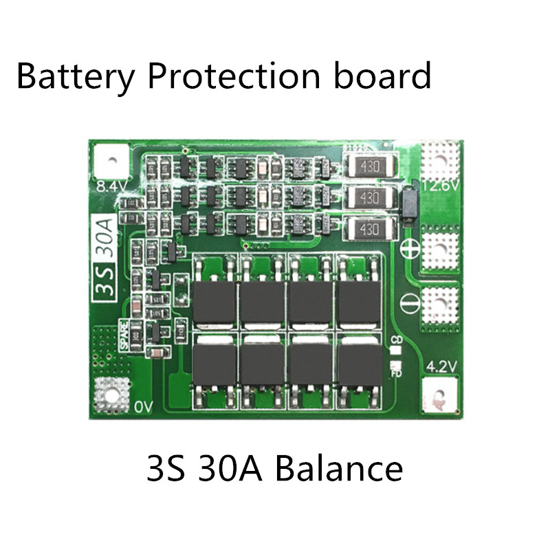 Image 4 - 18650 BMS 3S 30A/40A/50A/60A BMS Board  with Balance 11.1V 12.6V 3.7V LI ION Battery Protection Board-in Battery Accessories from Consumer Electronics