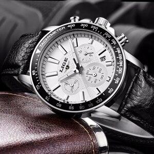 Image 4 - LIGE Mens Watches Top Brand Luxury Quartz Watch Hour Date Clock Fashion Casual Steel Watch Men Military Erkek Kol Saat