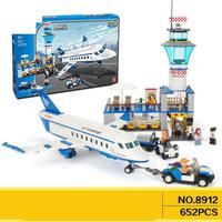 8912 652pcs City Air Plane International Airport Aviation Building Block