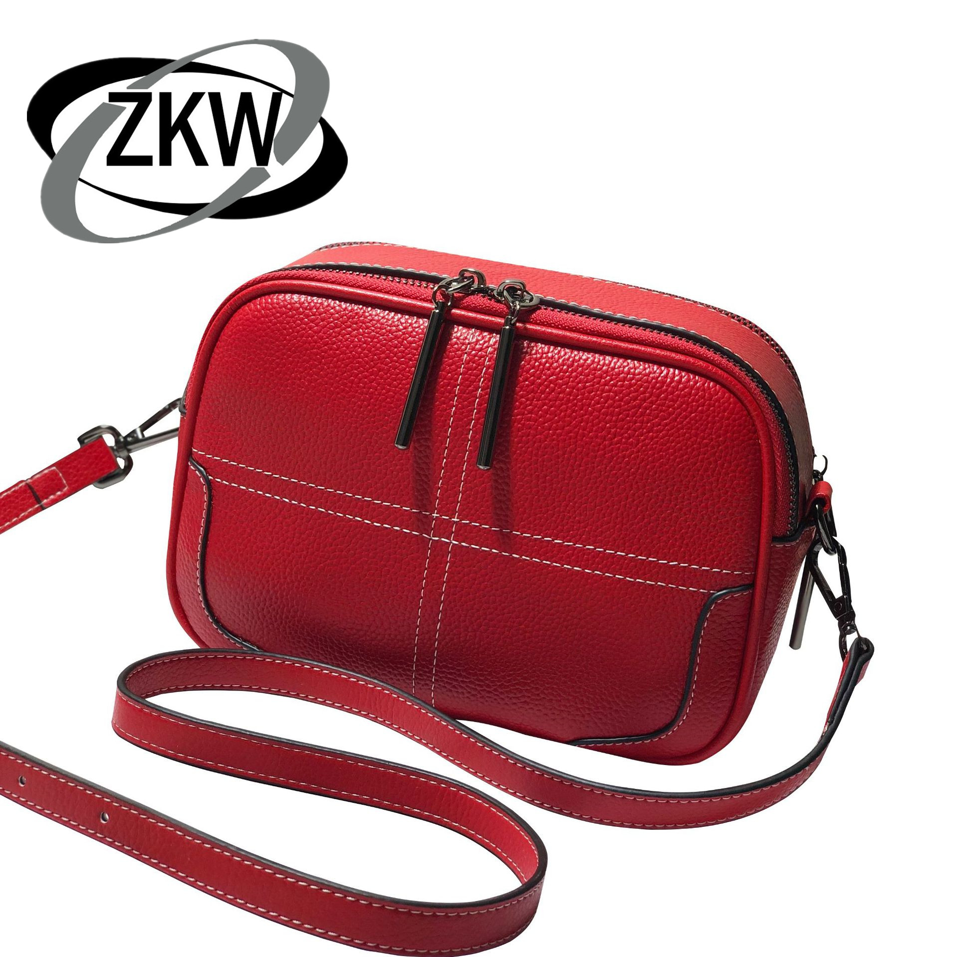 ZKW 2019 New arrival Designer genuine leather Women's Handbags High Quality Real Leather bag for Fashion shoulder bags female