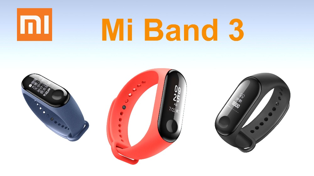 Xiaomi Mi Band 3 Smart Wristbands Bracelet Waterproof MiBand 3 Big OLED Heart Rate Original In Stock in stock original xiaomi mi band 3 miband 3 smartband oled display touchpad heart rate monitor wristbands bracelet xiaomi mi 8