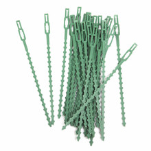 18pcs Plastic Plant support clips 2 sizes + 12pcs Adjustable Cable Ties binder + 20m/roll twist wire garden Grafting tool set