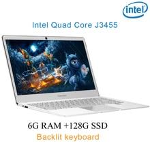 "P9-07 silver 6G RAM 128G SSD Intel Celeron J3455 20 Gaming laptop notebook desktop computer with Backlit keyboard"""