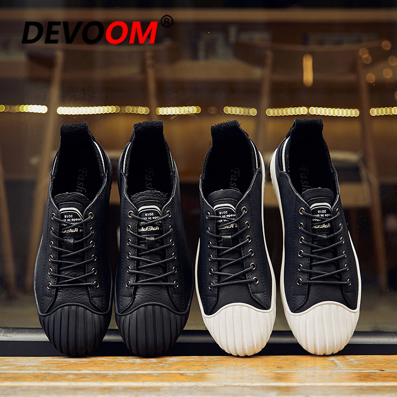 Sapatilhas Elástica Homens Couro Preto Superstar Toe Moda Novo Casuais De 2018 branco Shell Mocassins Flats Outono Sapatos Calçados Renda 0wEXqTax