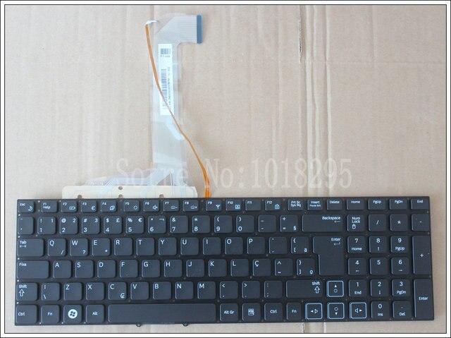 Teclado Do Laptop NOVO Brasil Para Samsung RF710 RF711 RF712 RF730 BR Preto com luz de fundo no frame