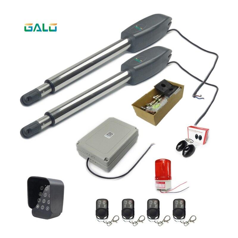 GALO KPM-C02 Kit d'ouverture de portail automatique double robuste pour portails battants jusqu'à 20 pieds
