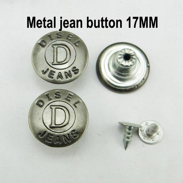 5 unidades jeans botones nietknöpfe botón negro 17 mm inoxidable mercancía nueva 0549