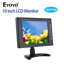 Eyoyo 10 inch Full HD 1024*768 TFT LCD Colour Display Monitor Excessive decision With VGA HDMI BNC AV USB Enter For PC/CCTV/DVD