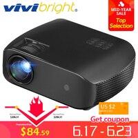 VIVIBRIGHT мини проектор F10, 1280x720 p, 2800 люмен, 3D HD видео проектор, светодиодный проектор для домашнего кинотеатра. Поддержка 1080 p HD IN