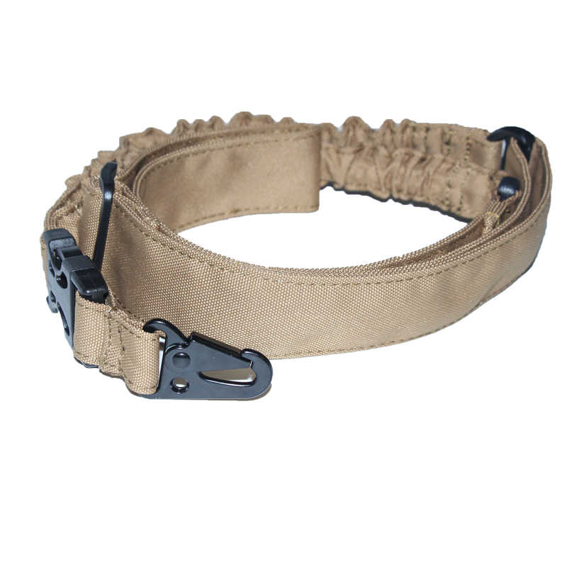 Tactische Jacht Single One Point Rifle Sling Paintball Militaire Verstelbare Bungee Cord Gun Band Systeem Rifle Gun Accessoires