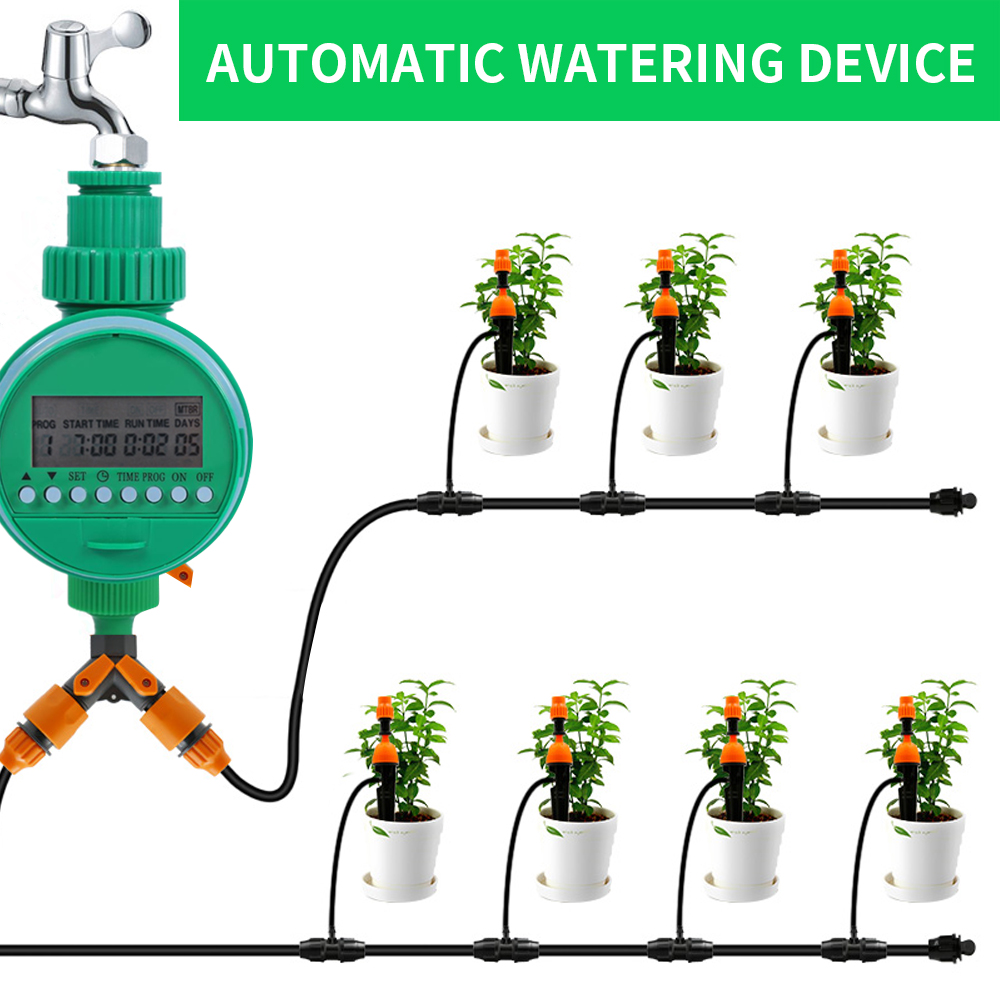 Automatic Garden Watering Timer Irrigation Controller Ball Valve Automatic Digital LCD Electronic Home Garden Irrigation System