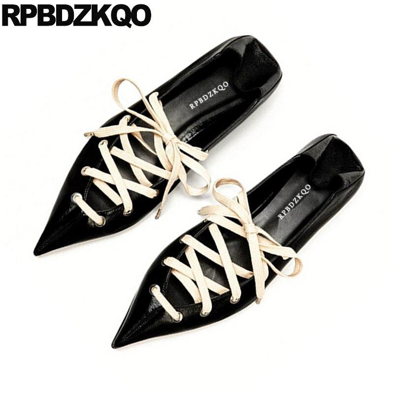 Black Flats Designer Shoes Women Luxury