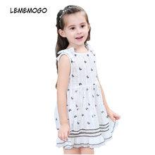 51ef778b5 Lememogo nueva pretty Niñas mariposa vestido bebé niños algodón imprimir  dot princesa Vestidos verano moda niños ropa para niña