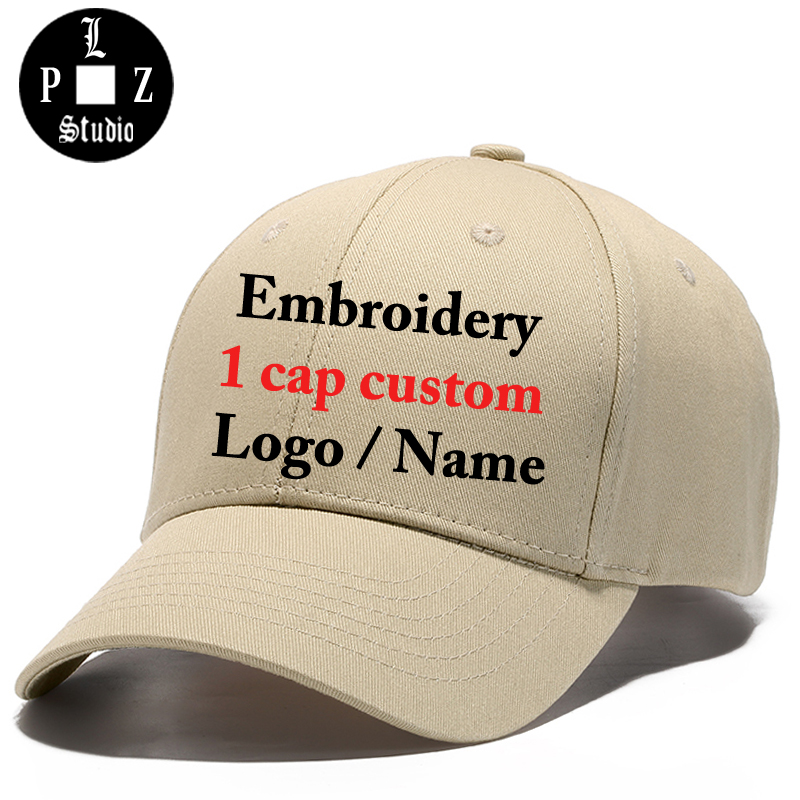 PLZ Custom Hat Sample Baseball Cap 3D Embroidery Customized Gift Logo Snapback For Men Women DIY Design Name Initials Cotton Hat brushed cotton twill ivy hat flat cap by decky brown