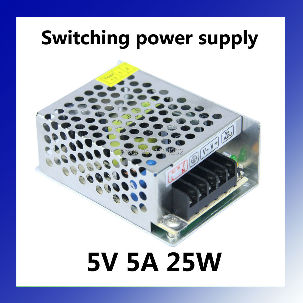 Smaller Volume Ac to <font><b>Dc</b></font> 5V <font><b>5A</b></font> 25W Switching Power Supply Input 100~240V image