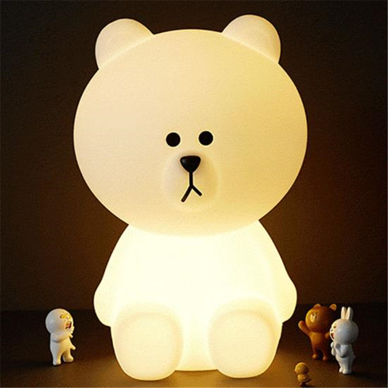 Ins Hot Big LED Lovely White Teddy Bear Children Bedroom Light Baby  Sleeping Light Baby Accompany Night Light Free Shipping In LED Table Lamps  From Lights ...