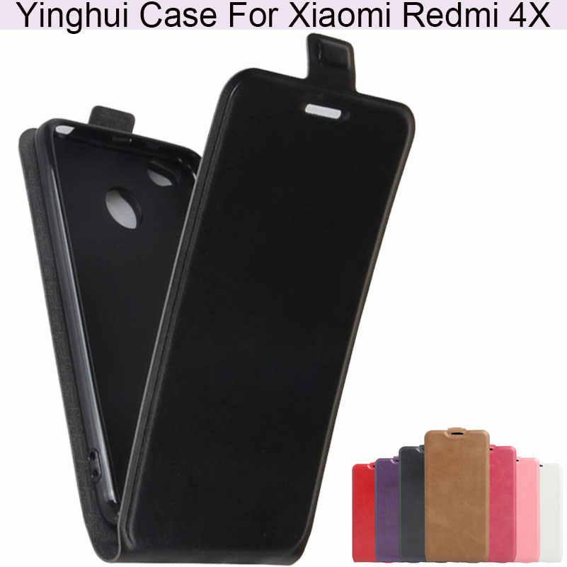 Yinghui Cao Cấp Da PU Thời Trang Ốp Lưng Điện Thoại Xiaomi Redmi 4X