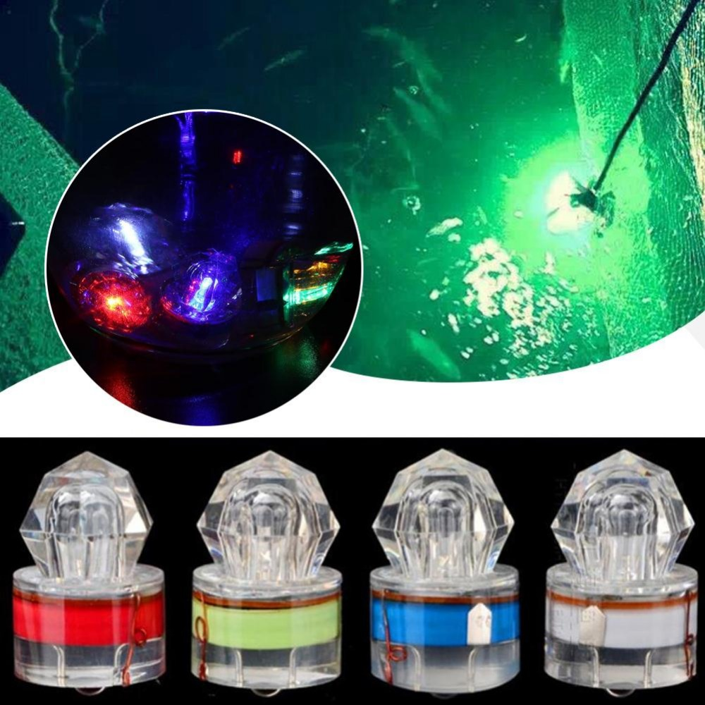 Fishing lure Light Attract Diamond Lamp LED Underwater Deep Sea Fishing Flashing Light Bait Lure Squid Strobe flash led light bait fishing lure light electronic fishing lamp