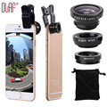 Lente ojo de pez 3 en 1 teléfono móvil lentes de clip para iphone 6 s plus 5S 5 ojo de pez gran angular macro cámara len para xiaomi huawei lg