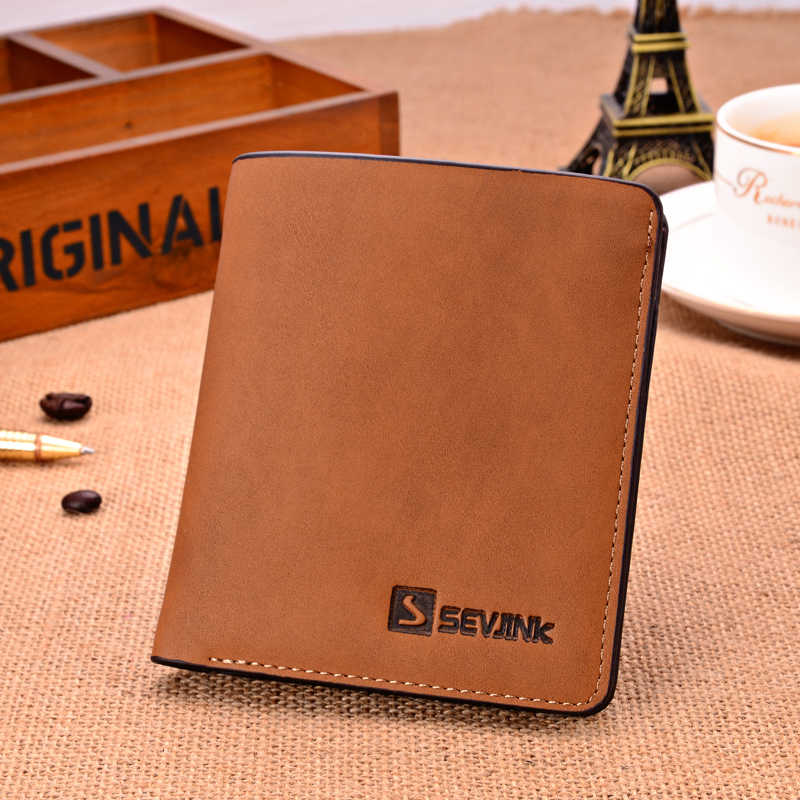 Men Wallets Top Quality  Leather Purse Casual Fashion Credit Card Wallet  HOT!