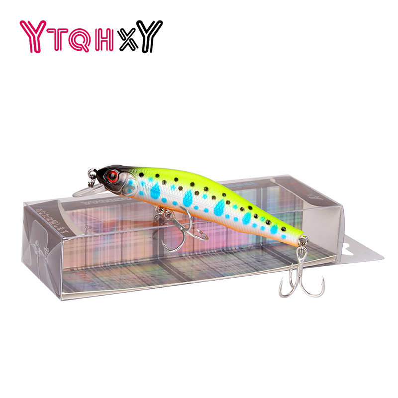 Hot model Fishing lure Pesca Minnow Quality winter Hard Bait 80mm 10g 3D Eyes Floating Wobbler Crankbait Fishing Tackle WQ403