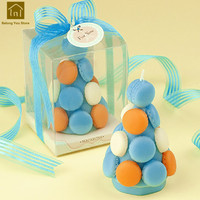 Macaron Tower Party Supplies Wedding Candles Creative Bougie D Coratives Candele Birthday Making Candle Wax Night Light JKK280