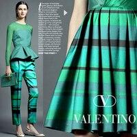 Beautiful Green Forest Profile Fashion New Technology Stripe Cotton Fabric Cloth