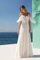 Шифоновые пляжные свадебные платья на бретельках; свадебные платья Boho; большие размеры; сексуальное платье с открытой спиной на заказ