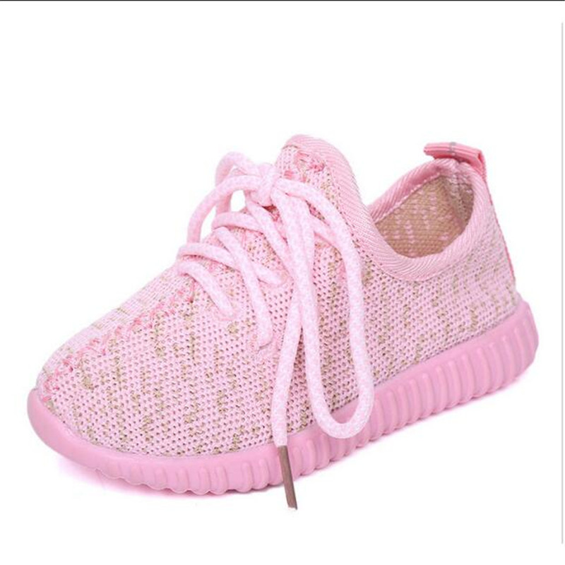 b502c7a26064b 2017 Fashion Air Yeezy shoes New Sports Kids Breathable Sneakers Spring  children Casual boys girls Lace up Rubber Running Shoes-in Sneakers from  Mother ...