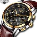 men's watches Fashion Brand LIGE Multifunction Chronograph Quartz Watch Military Sport watch men Male Clock Relogio Masculino