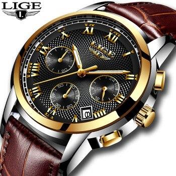 men's watches Fashion Brand LIGE Multifunction Chronograph Quartz Watch Military Sport watch men Male Clock Relogio Masculino - discount item  45% OFF Men's Watches