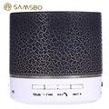 Новый SAMSBO A9 Многофункциональный Беспроводной Bluetooth Мини-Динамик Круглая Форма Музыка Fm-плеер