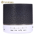 Nova a9 samsbo multifuncional sem fio bluetooth mini speaker forma redonda music player fm