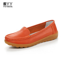 Women Shoes 2019 New Breathable Genuine Leather Ballerina Shoes Flats Slip on Loafers Women Espadrilles Female Footwear bacia classic genuine leather sheep skin shoes black slip on shallow flats brand female footwear shoes for women new mxa004