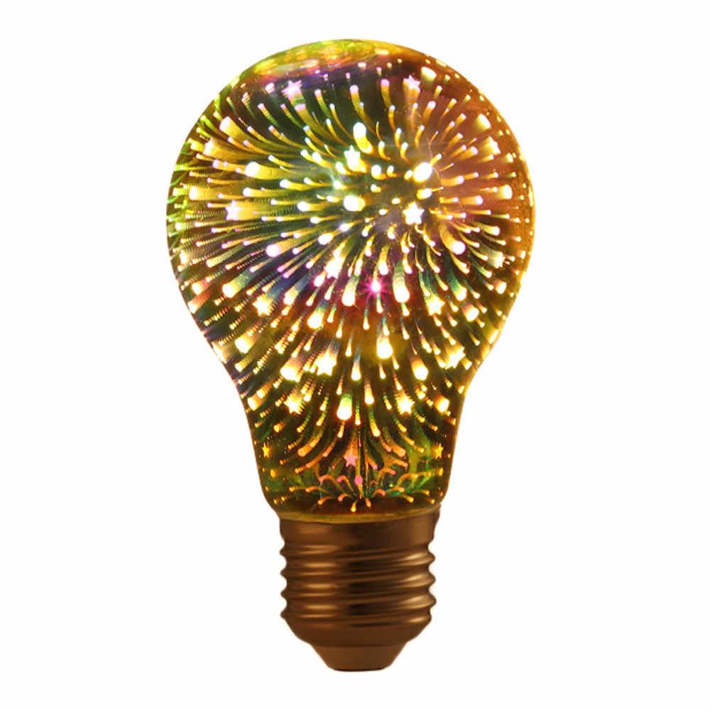 Горячий светодиодный 3D красочный Творческий Декор лампочка фейерверк лампа сцена дизайн свет
