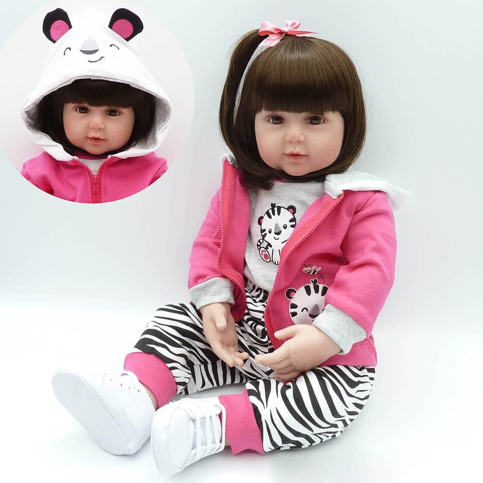 22 дюймов силикона Reborn Baby Куклы реалистичные принцессы с DIY волос младенцев кукла  ...