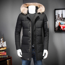 Duck Down Winter Jacket Men Warm Thick Hooded Mens Jackets and Coats 2016 Zippers Brand Clothing Black Outwear 2 Color 8812