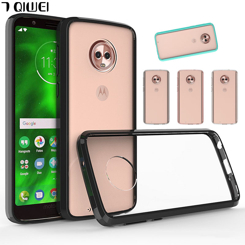 Back-Covers Hybrid-Bumper G6play-Case Moto G6 G6-Plus/g6 For Clear Hard Crystal