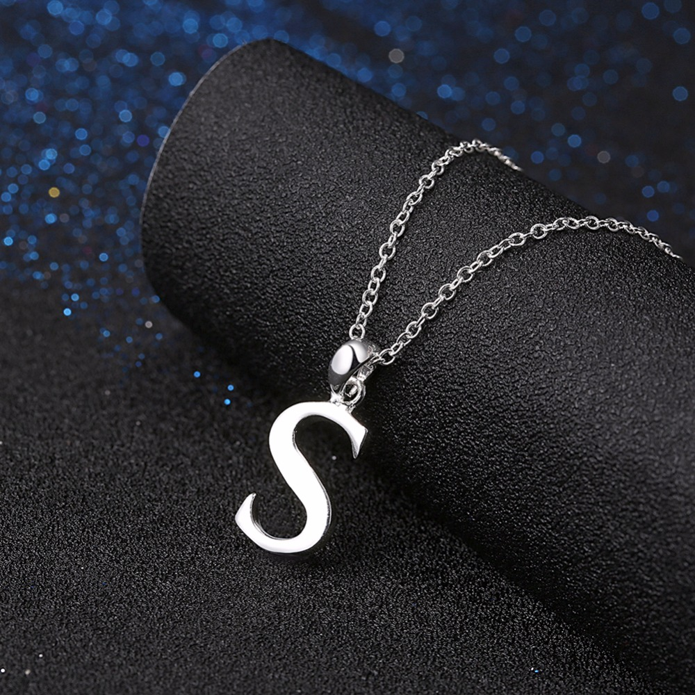 Hot is not allergic 925 sterling silver jewelry fashion classic letter pendant necklace female models retro accessories