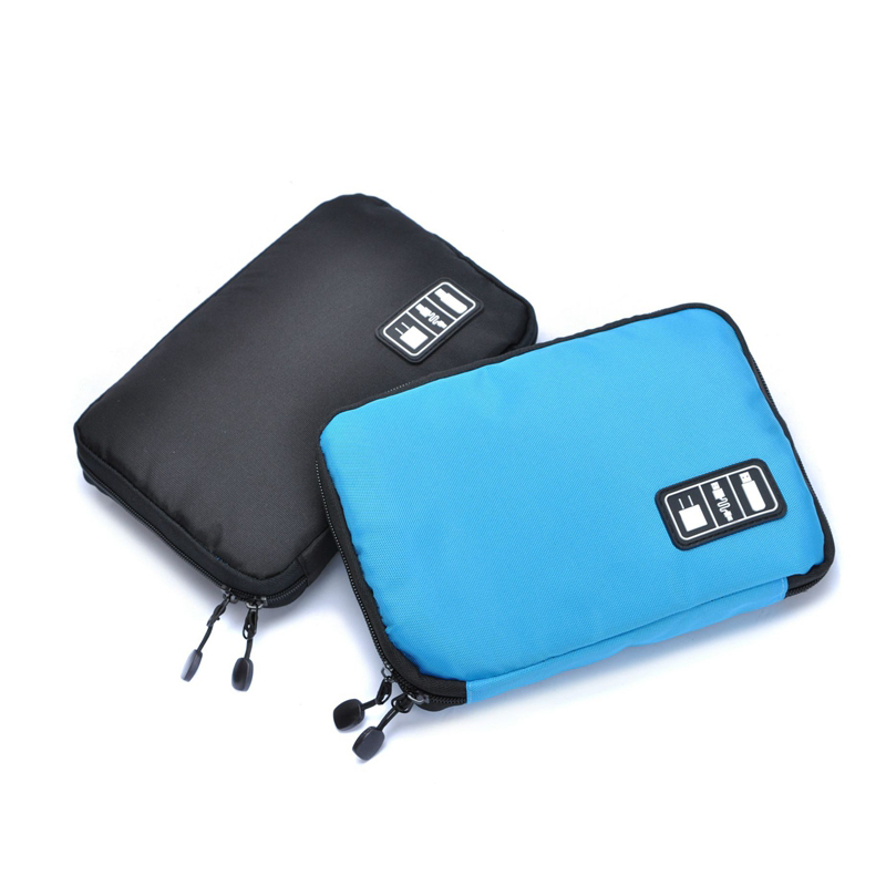 MOSEKO Electronic Accessories Travel Bag Nylon Travel Organizer For Date Line SD Card USB Cable Digital