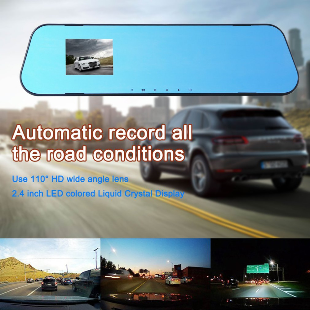 Bogget Car Rearview Mirror Car Rearview Mirror Panoramic Wide Angle Rear View Mirror Anti-Glare Titanium Mirror Fillet